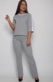 Костюм с брюками  Р0560(серый) (42-52)