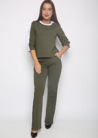 Костюм с брюками  Р0560(хаки) (42-52)