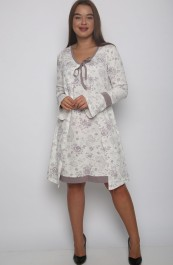 Комплект (халат, сорочка) Р0254 (44-54)