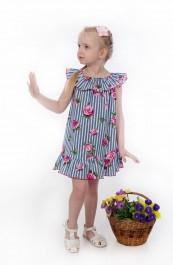 """Платье детское """"Линда"""" Д-ПЛ079 (98-128)"""