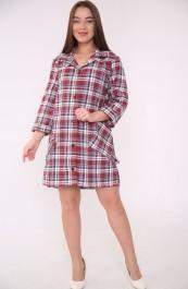 Рубашка-халат жен. М-75Фуле (44-62)