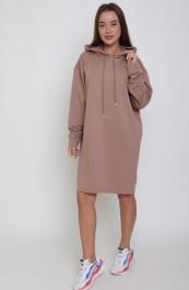 Платье-туника с капюшоном  Р0635 (42-56)
