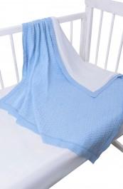 Плед детский вязаный с подкладкой (95*95)