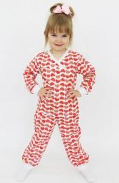 Пижама детская Футер Д-ПЖ001 (86-128)