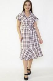 Халат-платье М-99 (шотландка) (44-62)