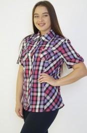 Рубашка-блуза на клепках М-37К (44-62)