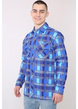 Рубашка муж. М-14Фланель (46-68)