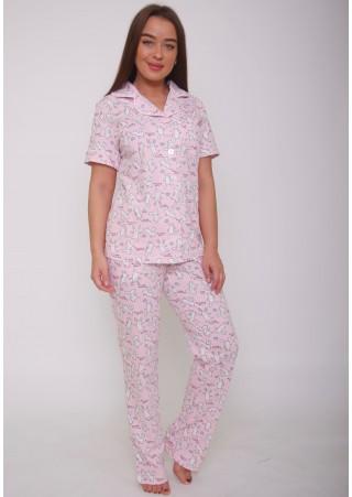 Пижама с брюками Р0424 (44-54)