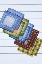 Мужские носовые платки (10 штук)
