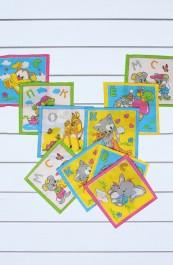 Детские носовые платки (10 штук) 18Х18