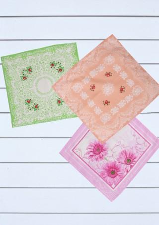 Женские носовые платки (10 штук) 28Х28